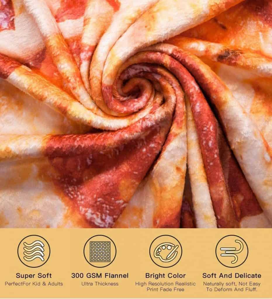 pizza blanket features